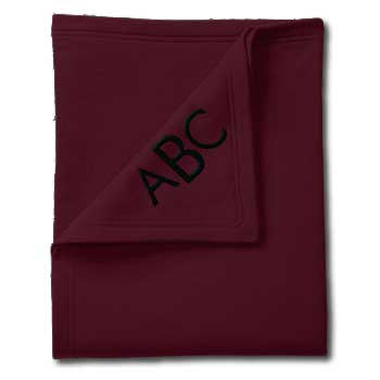 Classic Sweatshirt Blanket - Maroon - Moonbeam Baby - 1