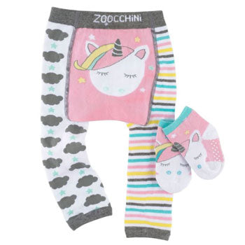 Crawling Legging & Sock Set - Allie the Alicorn
