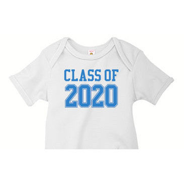 Blue Varsity 'Class of' Custom Onesie - Moonbeam Baby
