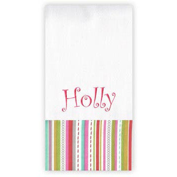 Personalized Burp Cloth<br> Stitch Watermelon - Moonbeam Baby