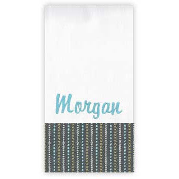 Personalized Burp Cloth<br> XOXOXO - Moonbeam Baby