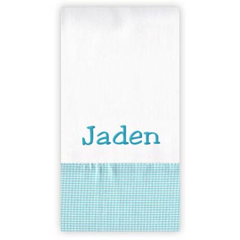 Personalized Burp Cloth<br> Taffy Gingham