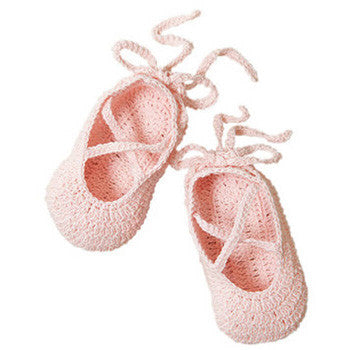 Baby Booties Ballerina Pink - Moonbeam Baby