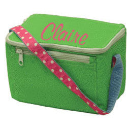 Personalized Lunch Box by Mint<br> Lime Polka Dots - Moonbeam Baby