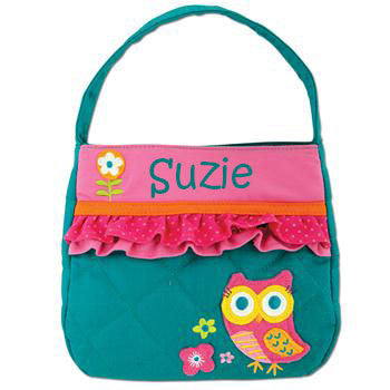Quilted Purse Owl w/Ruffles - Moonbeam Baby
