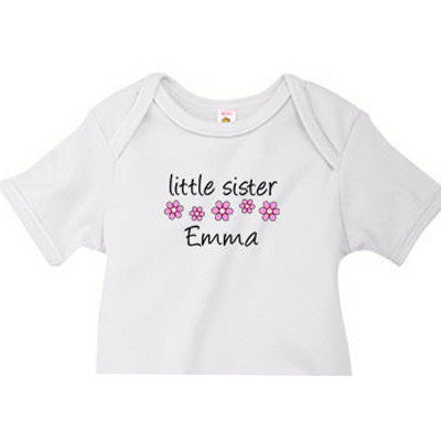 Little Sister Onesie<br>Little Flowers - Moonbeam Baby