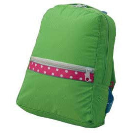 Personalized Backpack by Mint<br> Lime Polka Dots - Moonbeam Baby