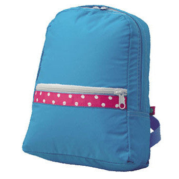 Personalized Backpack by Mint<br> Aqua Polka Dot - Moonbeam Baby