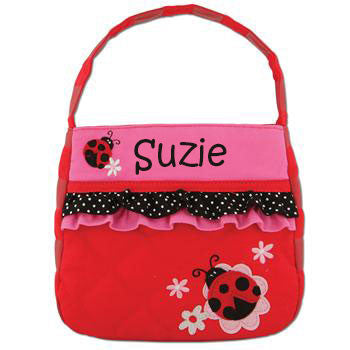 Quilted Purse Ladybug w/Ruffles - Moonbeam Baby