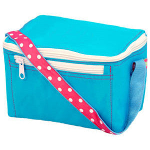 Personalized Lunch Box by Mint<br> Aqua Polka Dot - Moonbeam Baby