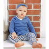 Long Sleeve Slate Hooded Shirt & Slate/Grey Leggings - Moonbeam Baby - 1