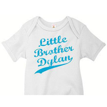 Little Brother Onesie<br>Jersey Distressed Look - Moonbeam Baby