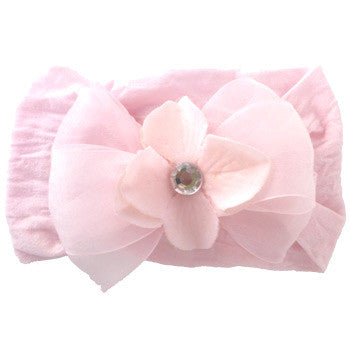 Large Bow - Baby Pink - Moonbeam Baby