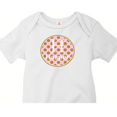 Pink/Brown Circle Custom Onesie - Moonbeam Baby