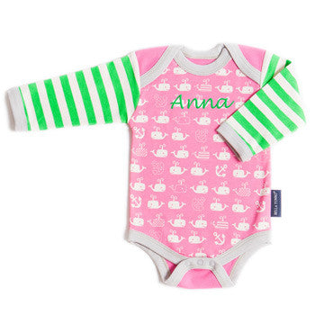 Personalized clothes little girls moonbeam baby personalized onesie whale wonder organic negle Choice Image