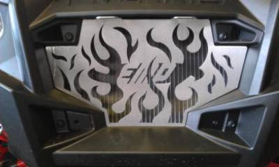 RZR Radiator Grill - Flames