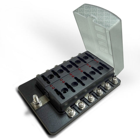 12 Way Standard LED Circuit Screw Fuse Block