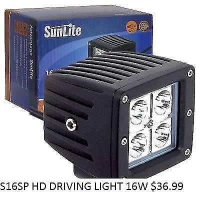 SUNLITE 16W HD DRIVING LIGHT