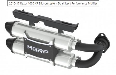 2015-17 RZR XP 1000 Slip-on system Dual Stack Performance Muffler