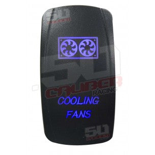 Illuminated On/Off Rocker Switch Cooling Fans