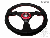 BAU Black Leather Steering Wheel