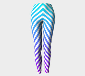 LIGHT BLUE TO PURPLE OMBRE' LEGGINGS