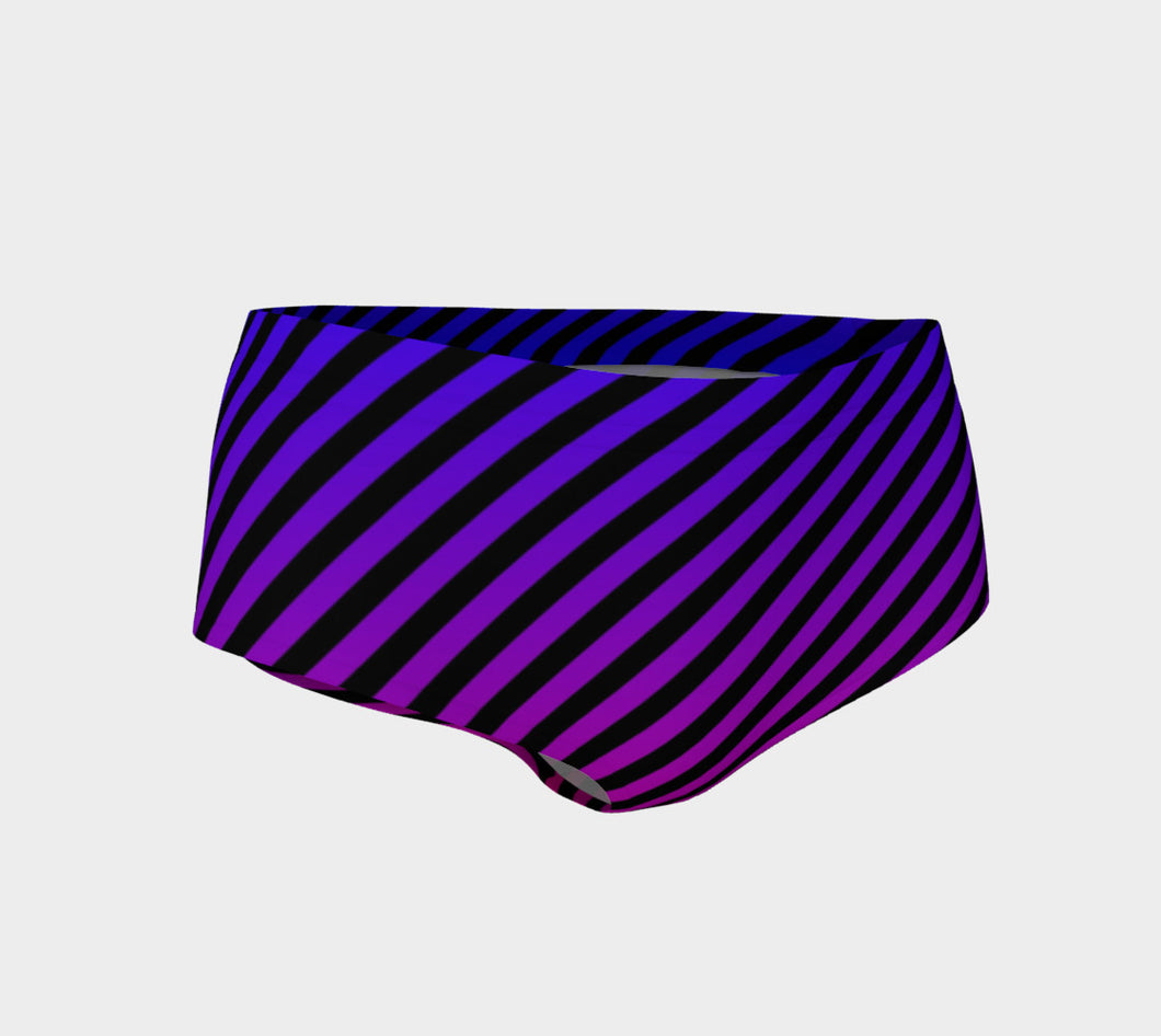 PURPLE OMBRE' BOOTY SHORTS