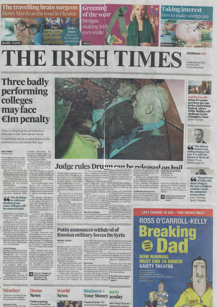 The Irish Times March 2016