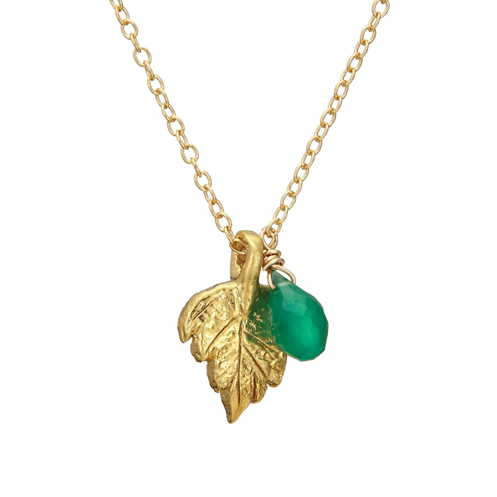 AW16 New Collection - Believe In Magic Leaf Necklace in Gold – Chupi