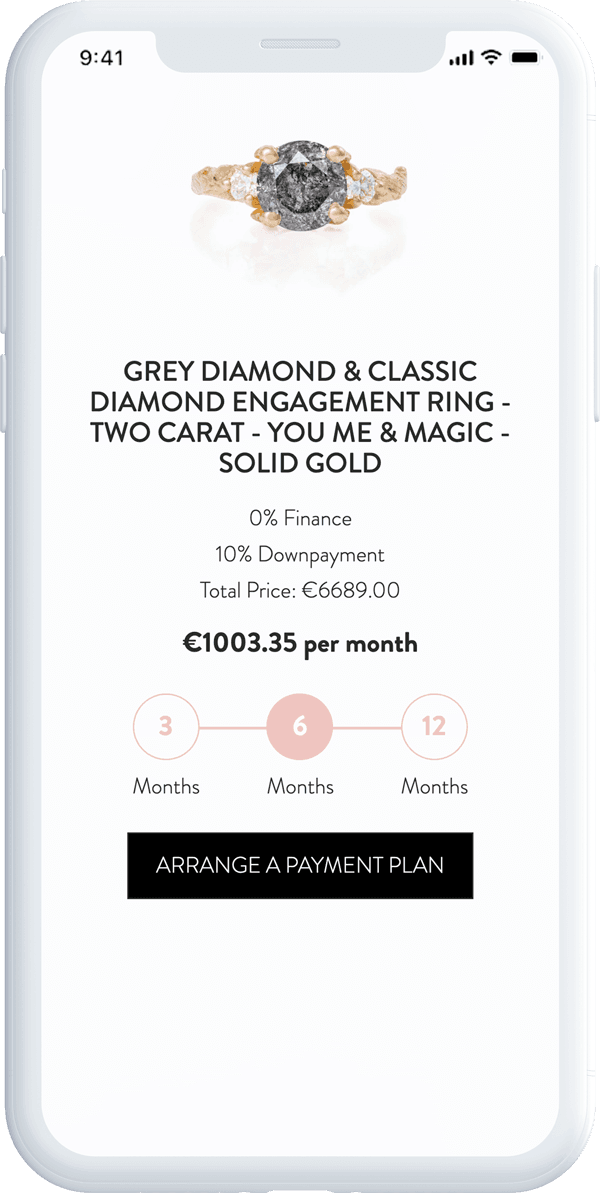 Phone showing the ring sizer