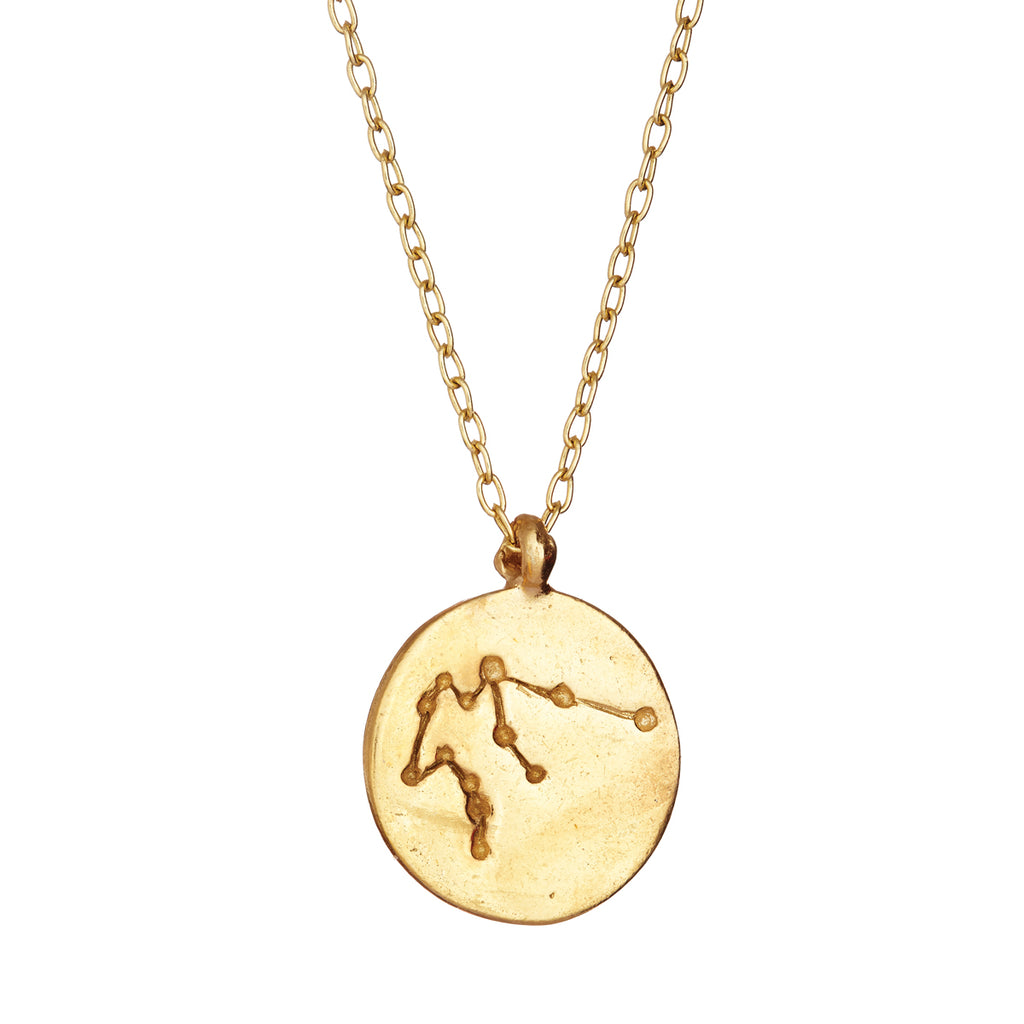 Chupi - Starsign Constellation Gold Plated Necklace - Aquarius - We Are All Made of Stars