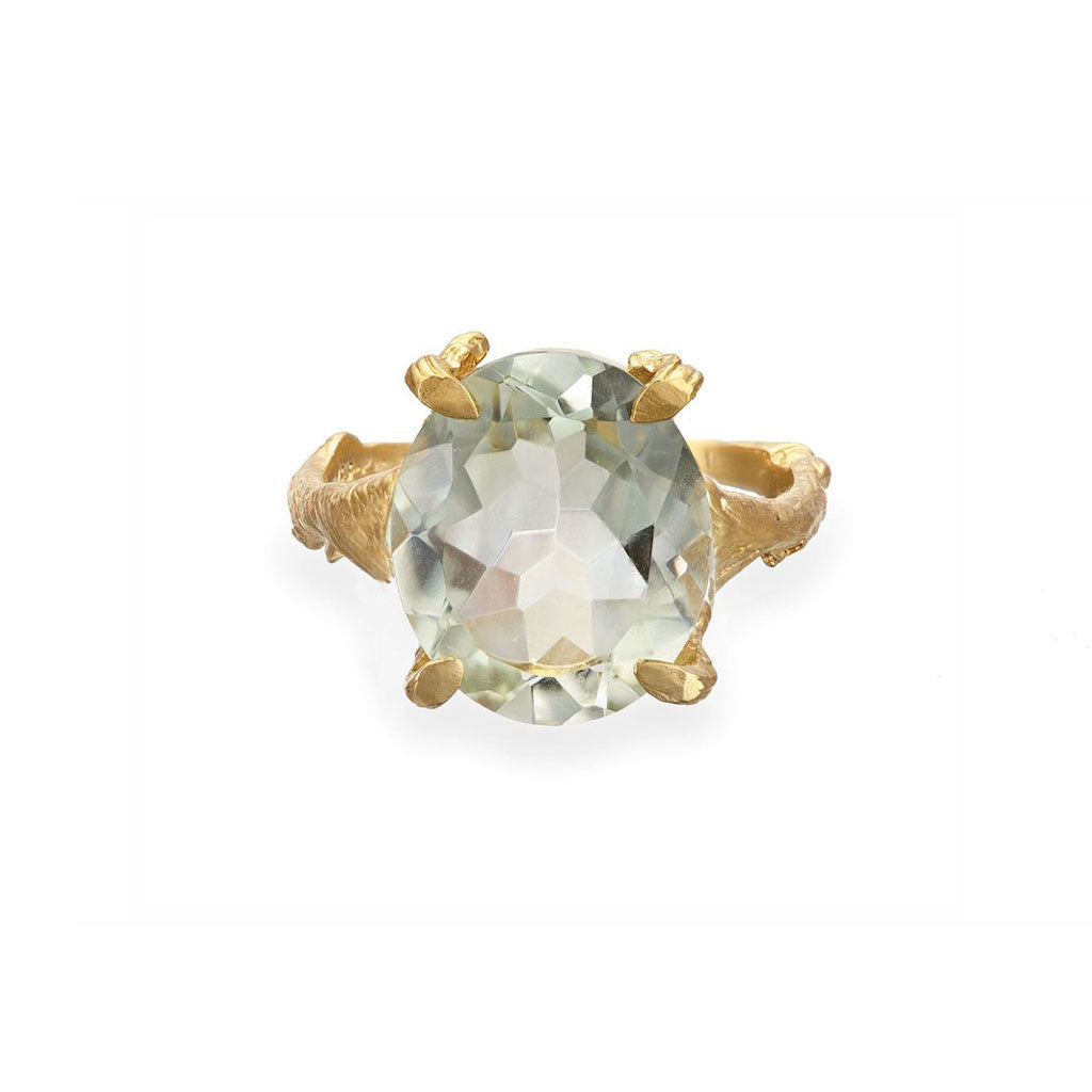 Chupi - Gold Plated Drop in the Wild - Prasiolite Cocktail Ring