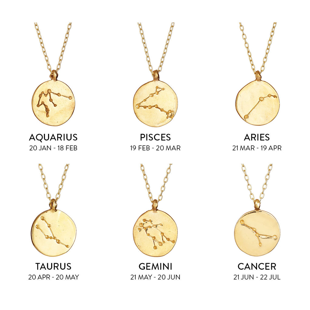 Chupi - Starsign Constellation Gold Plated Necklace - We Are All Made of Stars