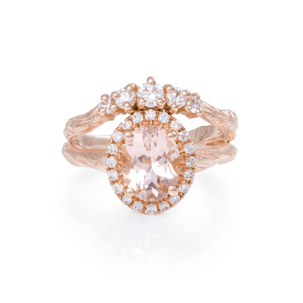 Solid Gold Crown of Love Ring Classic Diamond