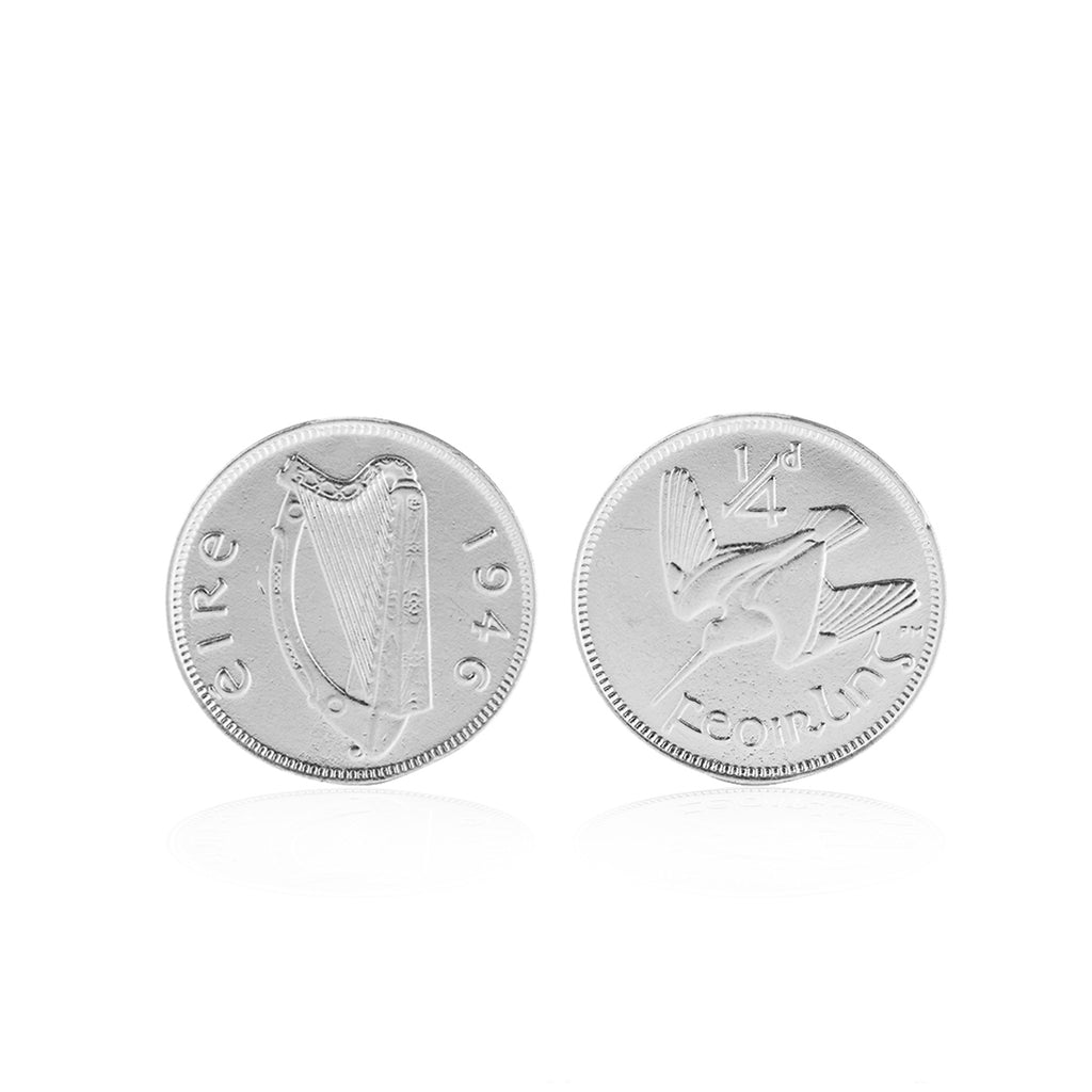 image-Worth Your Weight In Gold Farthing Coin Cufflinks in Silver