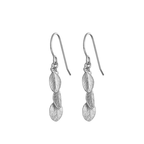 Chupi - Silver Drop Earrings - Leaves in the Forest