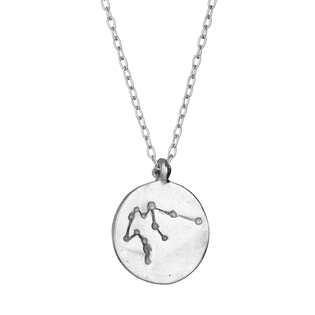 Chupi - Silver Starsign Necklace - Aquarius - We Are Made of Stars
