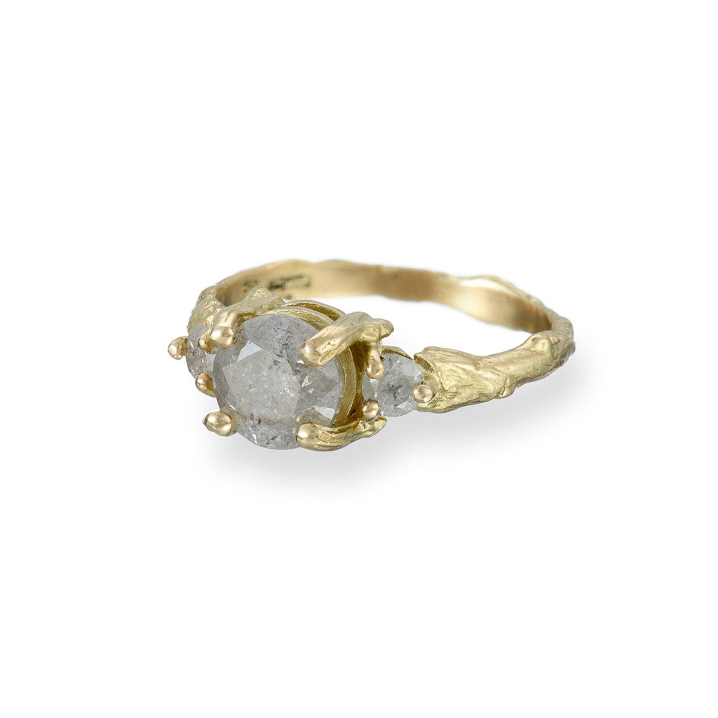 image-Solid 18k Gold You Me & Magic Ring Grey Diamond One Carat