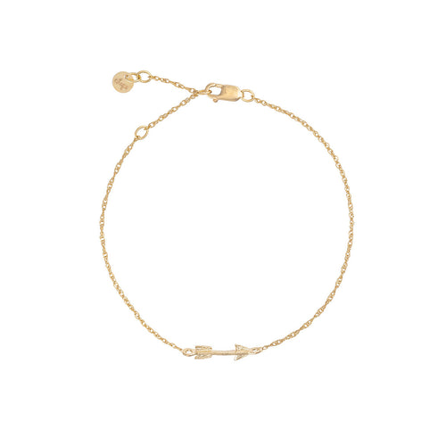 Solid Gold Follow Your Dreams Arrow Bracelet