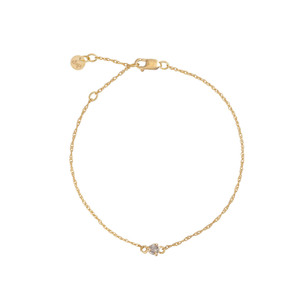 Chupi - Grey Diamond Bracelet - Stars in the Sky Midi Solid Gold Chain