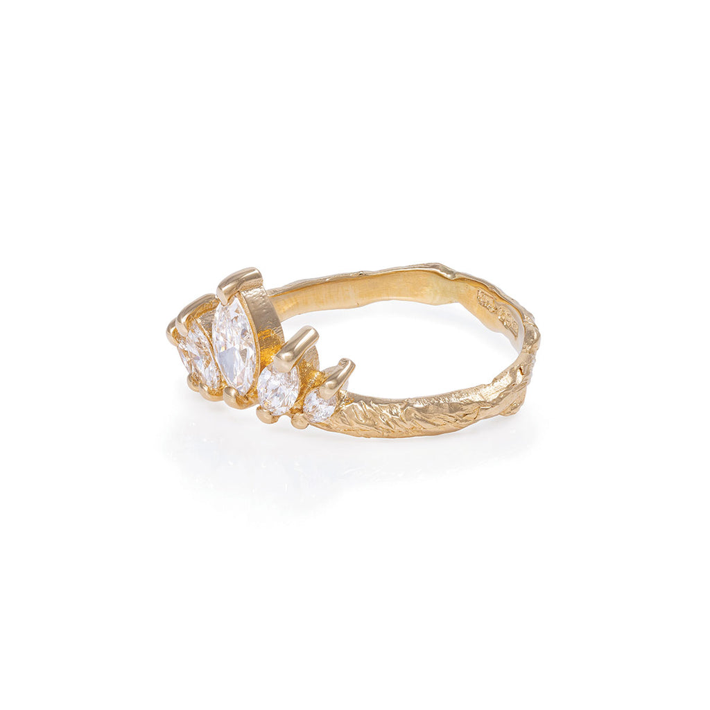 image-Solid Gold Crown of Hope Marquise Ring Classic Diamond