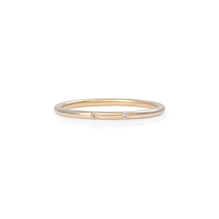 Chupi - Diamond Solid Gold Band - Love and Luck Ring