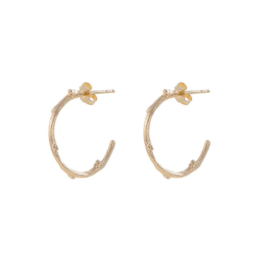 image-Chupi - Hoop Earrings - Midi Hawthorn Twig