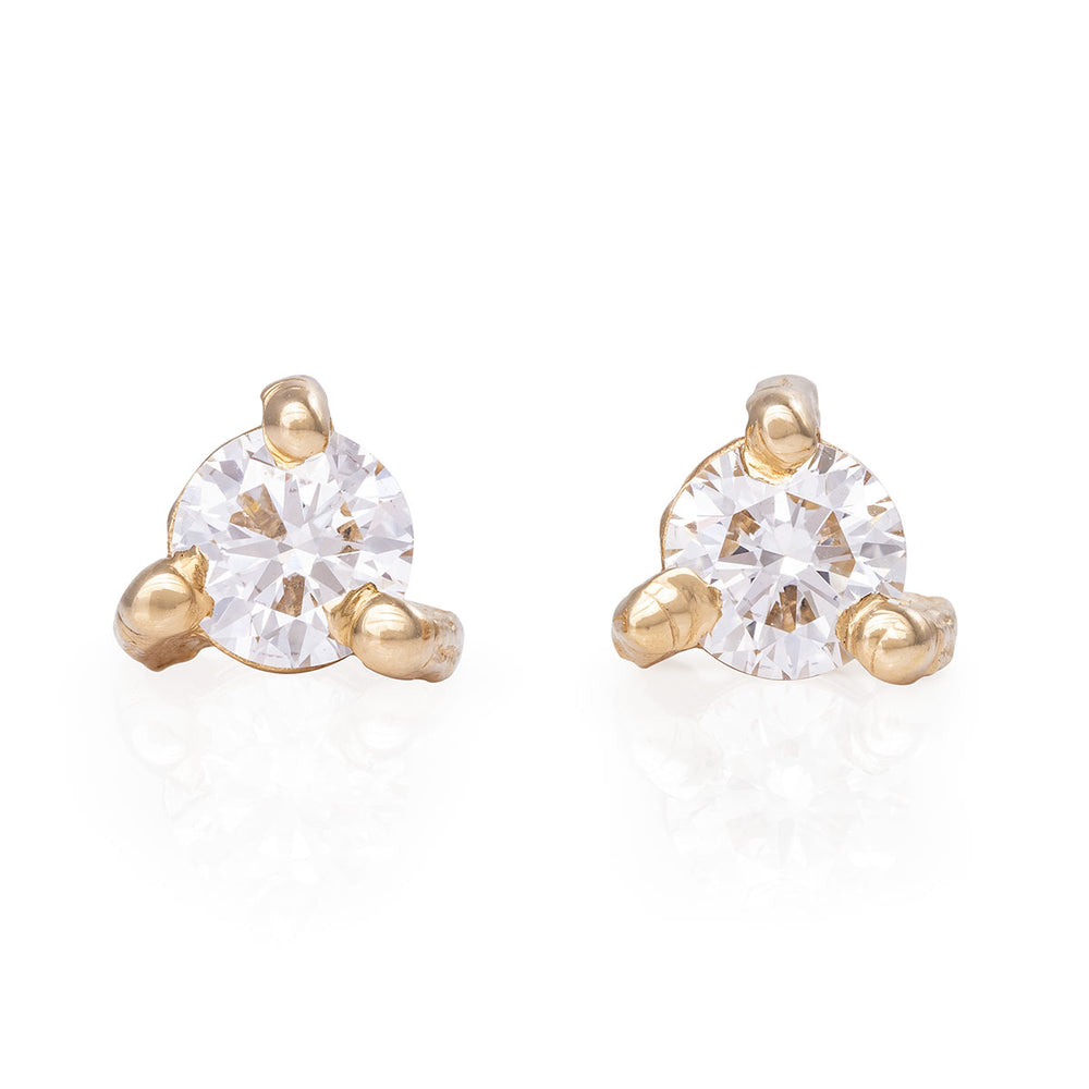 Chupi - Classic Diamond Stud Earring - Midi Pair - Hope & Magic