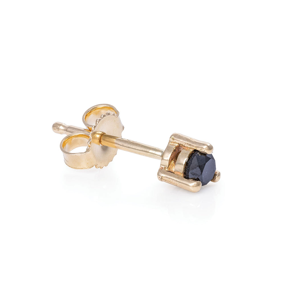 image-Chupi - Black Diamond Tiny Stud Earrings - Pair - Hope & Magic