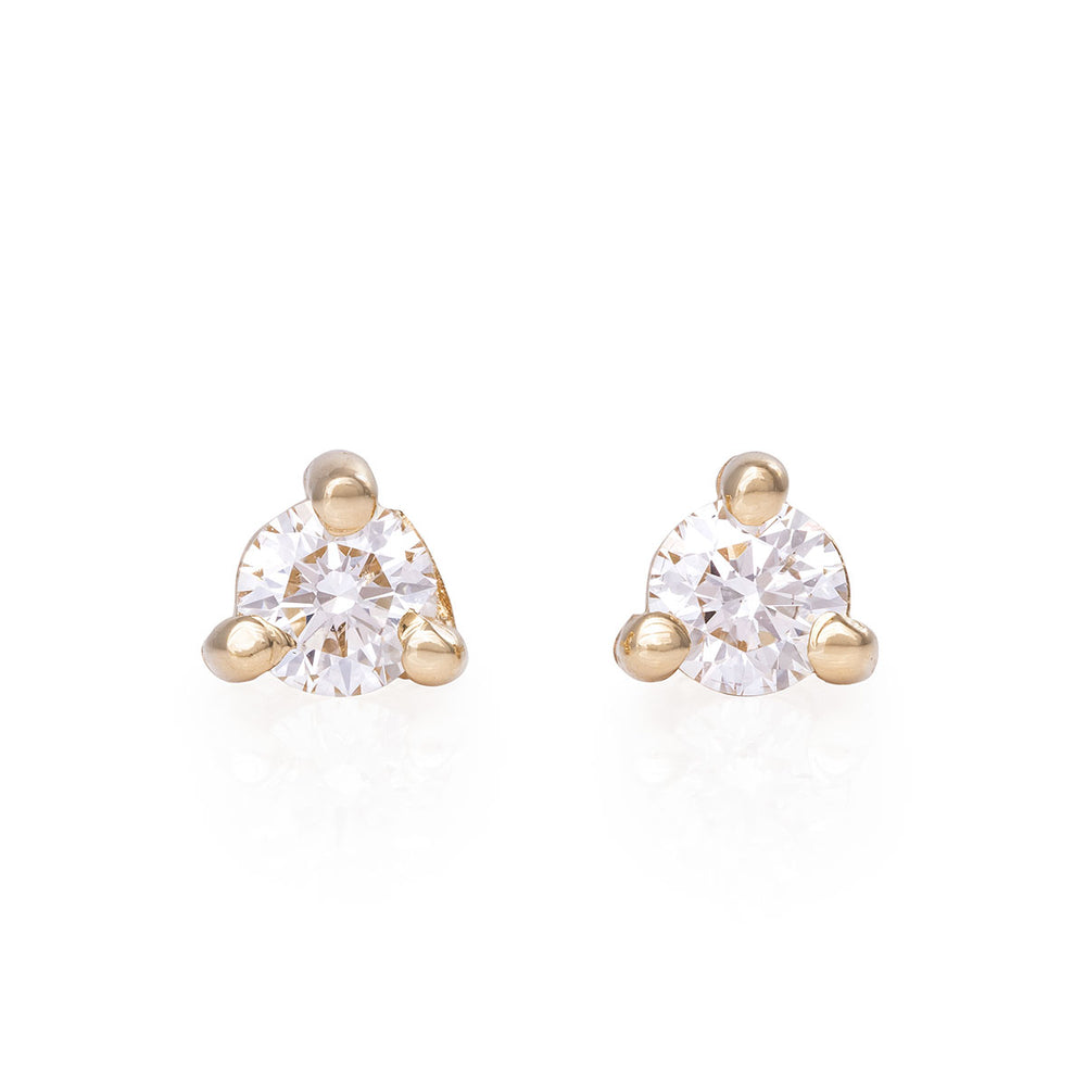 Chupi - Classic Diamond Stud Earring - Tiny Pair - Hope & Magic