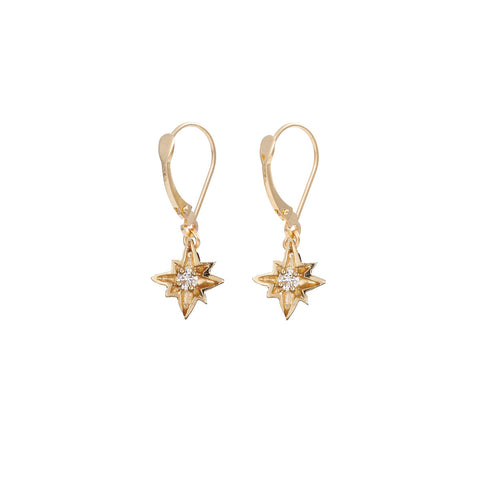 Chupi - Solid Gold Drop Earrings - I'd Be Lost Without You