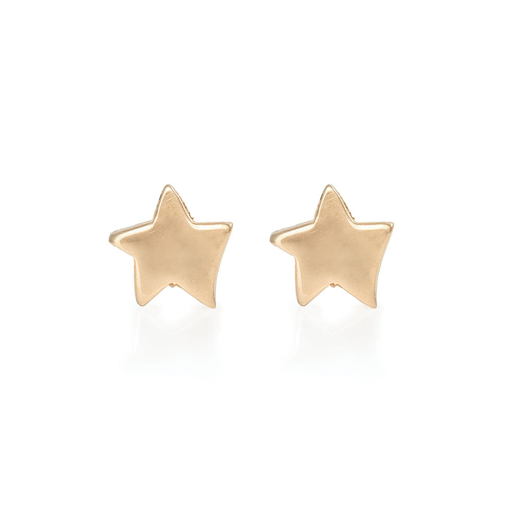Chupi - Star Stud Earrings - Solid Gold You Are My Star