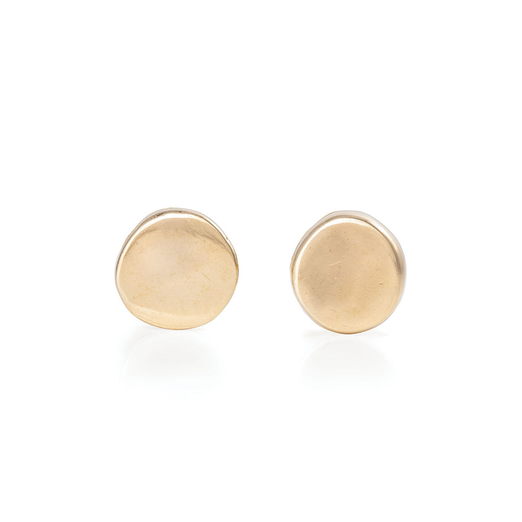 image-Solid Gold You Are The Sun Stud Earrings