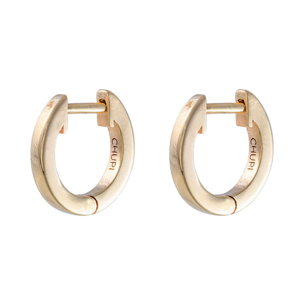 Chupi - Eternity Huggies Midi Hoop Earring - Pair - Solid Gold Earrings